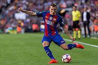 FC Barcelona's Digne during the La Liga match between Futbol Club Barcelona and Deportivo de la Coruna at Camp Nou Stadium Spain. October 15, 2016. (ALTERPHOTOS/Rodrigo Jimenez) NORTEPHOTO.COM