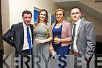 Donal Leahy, Aileen Lennon, Rose Leahy, Denis O'Driscoll enjoying the Irish Coursing Club Awards Dinner Dance at the Ballyroe Heights Hotel on Saturday