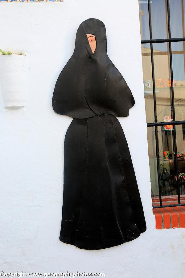 Traditional clothes worn by women in Vejer de la Frontera, Cadiz province, Spain