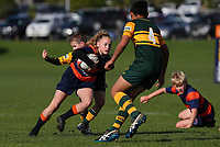 Action from the Auckland junior rugby match between Beachlands and Pukekohe at Te Puru Reserve, Auckland, New Zealand on Saturday 27 July 2019. Photo: Simon Watts / www.bwmedia.co.nz