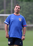 Bruce Arena, U.S. head coach, on Thursday, May 11th, 2006 at SAS Soccer Park in Cary, North Carolina. The United States Men's National Soccer Team held a training session as part of their preparations for the upcoming 2006 FIFA World Cup Finals being held in Germany.