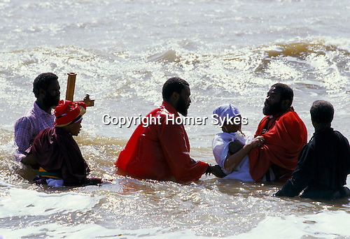 MOUNT ZION SPIRITUAL BAPTIST CHURCH OUTING TO FELIXSTOWE FOR WOMAN'S BAPTISIM IN THE SEA,