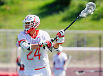Palos Verdes, CA 03/26/16 - Tommy Ruth (Palos Verdes #24) in action during the CIF Boys Lacrosse game between San Clemente Tritons and the Palos Verdes Seakings at Palos Verdes High School.  Palos Verdes defeated San Clemente 11-6