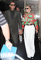 NEW YORK, NY - AUGUST 2: Alex Rodriguez,  Jennifer Lopez  seen leaving NBC's Today Show in New York City on August 2, 2018. <br /> CAP/MPI/RW<br /> &copy;RW/MPI/Capital Pictures