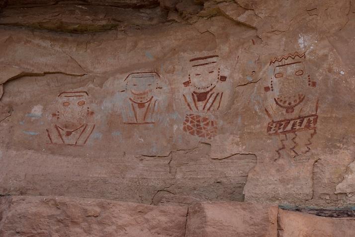 4 Faces, Canyonlands National Park Utah. A playful colorful panel.