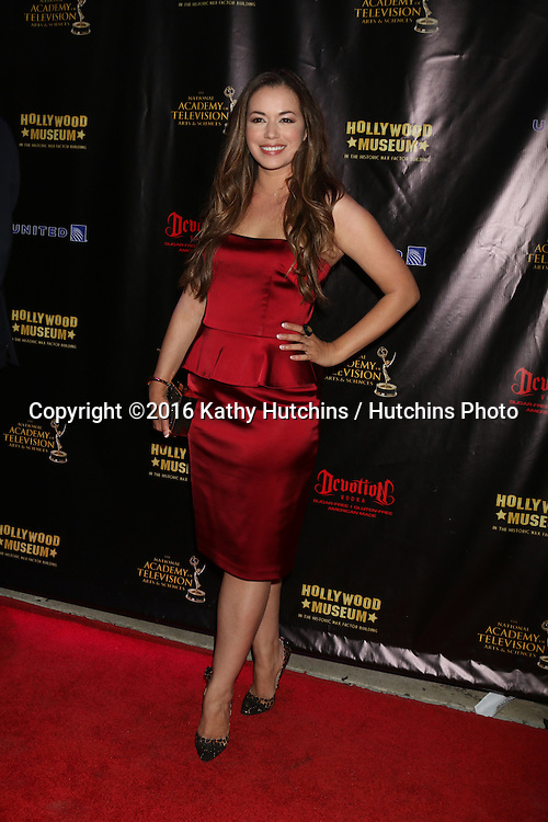 LOS ANGELES - APR 27:  Teresa Castillo at the 2016 Daytime EMMY Awards Nominees Reception at the Hollywood Museum on April 27, 2016 in Los Angeles, CA