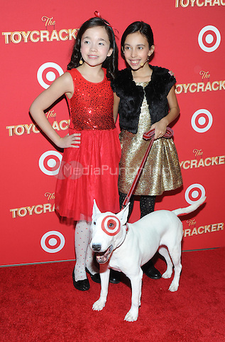NEW YORK, NY - DECEMBER 07: Isabella Russo and guest along with Bullyeye attend as Target Presents 'The Toycracker' Premiere Event at Spring Studios on December 7, 2016 in New York City. Photo by John Palmer/MediaPunch