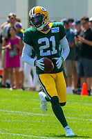 Green Bay Packers safety Ha Ha Clinton-Dix (21) during a training camp practice on August 15, 2017 at Ray Nitschke Field in Green Bay, Wisconsin.   (Brad Krause/Krause Sports Photography)