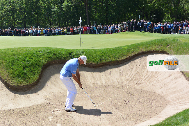 Thomas BJORN (DEN) during the final round of the BMW PGA championship, Wentworth Golf Club, Virginia Waters, London.<br /> Picture: Fran Caffrey www.golffile.ie