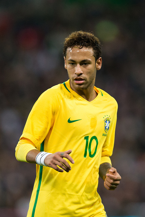 Brazil&rsquo;s Neymar Jr  <br /> <br /> Photographer Craig Mercer/CameraSport<br /> <br /> The Bobby Moore Fund International - England v Brazil - Tuesday 14th November 2017 Wembley Stadium - London  <br /> <br /> World Copyright &copy; 2017 CameraSport. All rights reserved. 43 Linden Ave. Countesthorpe. Leicester. England. LE8 5PG - Tel: +44 (0) 116 277 4147 - admin@camerasport.com - www.camerasport.com