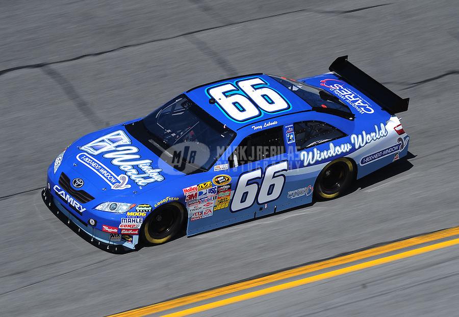 Feb 07, 2009; Daytona Beach, FL, USA; NASCAR Sprint Cup Series driver Terry Labonte during practice for the Daytona 500 at Daytona International Speedway. Mandatory Credit: Mark J. Rebilas-