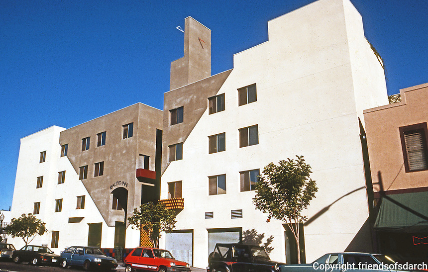 San Diego: SRO (Baltic Inn), Downtown SD, 1987.  Rob Quigley, Arch.  Photo 1992.