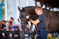 DEN-Anders Dahl presents Selten HW during the Horse Inspection for Dressage. 2018 FEI World Equestrian Games Tryon. Tuesday 11 September. Copyright Photo: Libby Law Photography