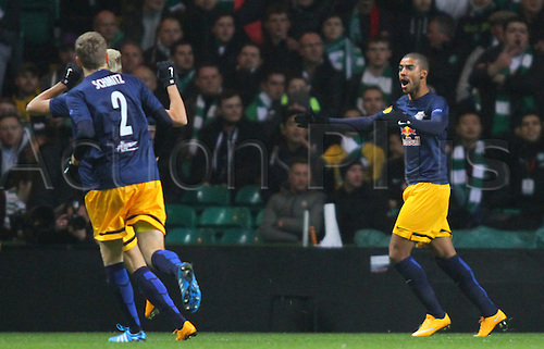 27.11.2014. Glasgow, Scotland. Europa League Group Stages Qualifying Round. Celtic versus FC Red Bull Salzburg. Alan celebrates his goal to make it 1-0