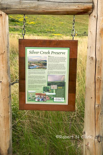 Interpretative signs for the Silver Creek Preserve