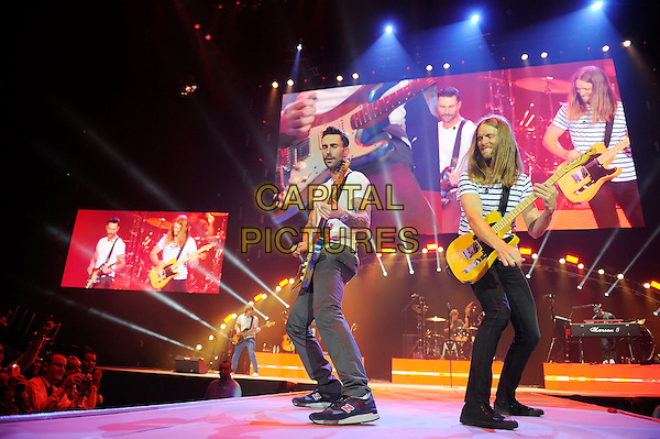 LONDON, ENGLAND - January 10: Adam Levine and James Valentine of Maroon 5 perform in concert at the o2 Arena on January 10, 2014 in London, England<br /> CAP/MAR<br /> &copy; Martin Harris/Capital Pictures