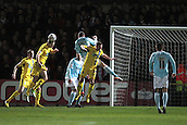 15.01.2013. Torquay, England. Torquay's Aaron Downes clears during the League Two game between Torquay United and Exeter City from Plainmoor.