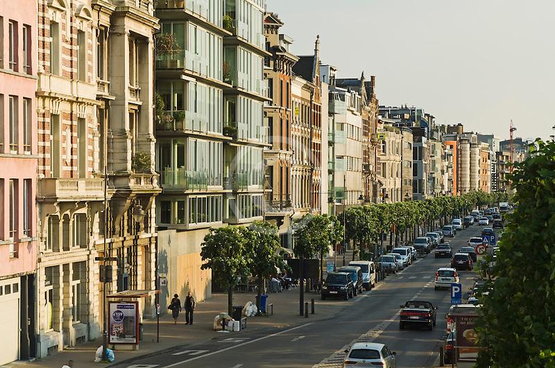 Belgium, Antwerp, Row of houses, Plantonkaai