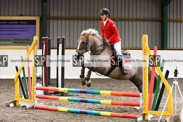 Stapleford Abbotts. United Kingdom. 03 November 2019. Class 4. Unaffiliated Showjumping championship show. Brook Farm training centre. Stapleford Abbotts. Essex. United Kingdom. Credit Melody Fisher/Sport in Pictures.~ 03/11/2019.  MANDATORY Credit Melody Fisher/SIP photo agency - NO UNAUTHORISED USE - 07837 394578