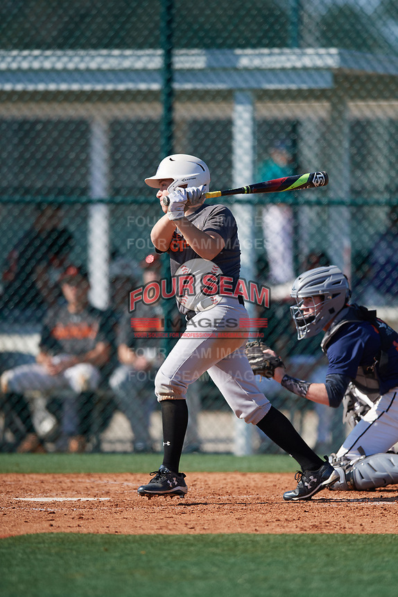 Jason Spezzaferra (59), from Maywood, New Jersey, while playing for the Giants during the Baseball Factory Pirate City Christmas Camp & Tournament on December 30, 2017 at Pirate City in Bradenton, Florida.  (Mike Janes/Four Seam Images)