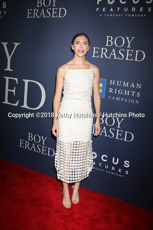 """LOS ANGELES - OCT 29:  Alyson Stoner at the """"Boy Erased"""" Premiere at the Directors Guild of America Theater on October 29, 2018 in Los Angeles, CA"""