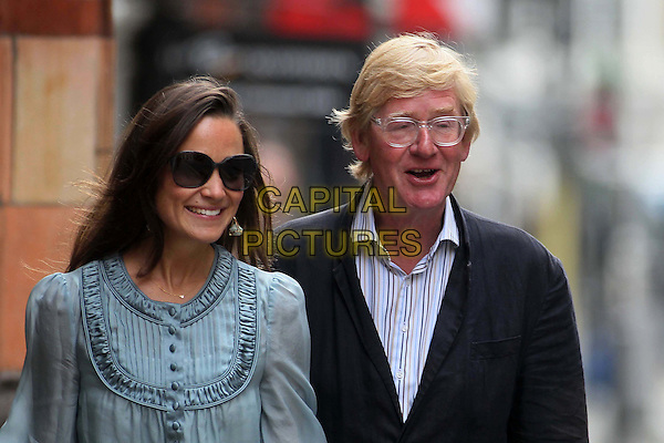 Pippa MIddleton spotted Chelsea, London, England..September 2nd, 2011.half length blue top sheer sunglasses shades friend glasses black jacket .CAP/HIL.©John Hillcoat/Capital Pictures .