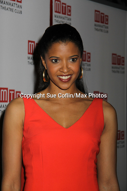 One Life To Live's Renee Elise Goldsberry - Opening Night of Broadway's Good People on March 3, 2011 at the Samuel J. Friedman Theatre, New York City, New York with the after party was at B.B. Kings, NYC. (Photo by Sue Coflin/Max Photos)