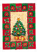 Stephen, CHRISTMAS SYMBOLS, paintings, Christmas tree, gifts(GBUK11861/2,#XX#)