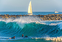 Surfing the Wedge in Newport Beach California