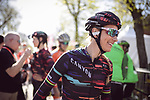 Pauline Ferrand Prevot (FRA) Canyon-Sram Racing at sign on before La Fleche Wallonne Femmes 2018 running 118.5km from Huy to Huy, Belgium. 18/04/2018.<br /> Picture: ASO/Thomas Maheux | Cyclefile.<br /> <br /> All photos usage must carry mandatory copyright credit (&copy; Cyclefile | ASO/Thomas Maheux)