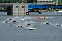 Mark Scherbauch (#35) leads the SST-45's onto the main straight for the first lap of the final..Bay City River Roar, Bay City,Michigan USA.26-2821 June, 2009..©F. Peirce Williams 2009 USA.F.Peirce Williams.photography.ref: RAW (.NEF) File Available