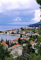 Croatia beautiful coast resort city of Gradac Croatia