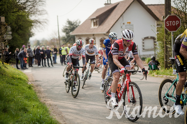 John DEGENKOLB (DEU/Trek-Segafredo) up the first climb of the day: the Catsberg<br /> <br /> 81st Gent-Wevelgem 'in Flanders Fields' 2019<br /> One day race (1.UWT) from Deinze to Wevelgem (BEL/251km)<br /> <br /> ©kramon