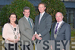 AMBASSADOR VISIT: Australian Ambassador to Ireland Mr Bruce Davis on his recent trade visit to Kerry at the Carlton on Sunday l-r: Mayor of Tralee Gillian Wharton-Slattery, Ambassador Bruce Davis, Deputy Arthur Spring and Mayor of Kerry Pat Leahy.
