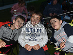 Jamie and Josh Beasley, Jack Kelly at the East Meath United outdoor Cinema night. Photo:Colin Bell/pressphotos.ie