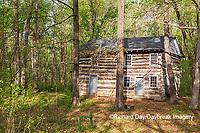 63895-16002 Cabin at Log Cabin Village in spring Kinmundy IL
