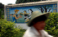 Propaganda posters in the country-side in Danzhou County, Hainan Island, China. Danzhou city has the highest gender imbalance in China with 170 males born for every 100 females according to figures from Chinese Government 5t National Census. The imbalance is already having a massive social impact on society and is expected to get worse while the ruthless One Child Policy, aimed at curbing China's 1.3 billion population, continues to be law. The area is begining to rigidly enforce the policy due to the massive problem of gender selection..PHOTO BY SINOPIX
