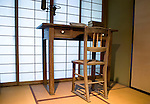 Photo shows the desk used by writer Lafcadio Hearn, whose Japanese name was Koizumi Yakumo, at the Lafcadio Hearn museum in Matsue, Shimane Prefecture, Japan on 05 Nov. 2012. Photographer: Robert Gilhooly.