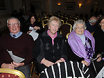 Chris and Eithne Doggett and Claire Eagleton pictured at the Mornington Gospel Choir concert in the Glenside hotel. Photo: Colin Bell/pressphotos.ie