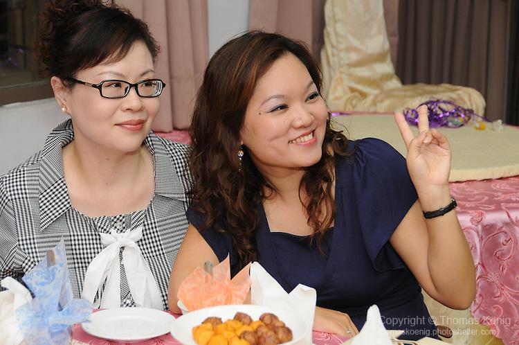 Taiwanese Wedding -- Guests at the wedding banquet.