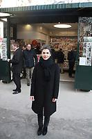 Olivia Polski adjointe a la maire de Paris - Inauguration des nouveaux kiosques de presse parisien, 13/03/2017