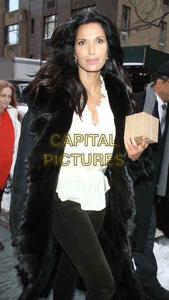NEW YORK, NY - JANUARY 29: Padma Lakshmi seen after guest co-hosting on The View in New York City on January 29, 2015.  <br /> CAP/MPI/RW<br /> &copy;RW/ MediaPunch/Capital Pictures