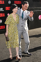 "HOLLYWOOD, LOS ANGELES, CA, USA - MAY 08: Kaho Minami, Ken Watanabe at the Los Angeles Premiere Of Warner Bros. Pictures And Legendary Pictures' ""Godzilla"" held at Dolby Theatre on May 8, 2014 in Hollywood, Los Angeles, California, United States. (Photo by Xavier Collin/Celebrity Monitor)"