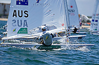 Laser / Matthew WEARN (AUS)<br /> ISAF Sailing World Cup Final - Melbourne<br /> St Kilda sailing precinct, Victoria<br /> Port Phillip Bay Tuesday 6 Dec 2016<br /> &copy; Sport the library / Jeff Crow