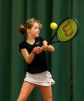 Wateringen, The Netherlands, March 9, 2018,  De Reijenhof , NOJK 12/16 years, Emily Schut (NED)<br /> Photo: www.tennisimages.com/Henk Koster