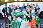 Killarney Celtic under 9's pictured at Lidl car park about to depart for Dublin for the Rep of Ireland V Gibraltar soccer match last Saturday.