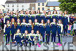 The Kerry team that won the u16 All Ireland final against Dublin at their homecoming in Killorglin on Thursday evening