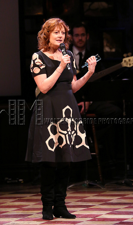 Susan Sarandon accepting 'The Sir Ian McKellen Award' at the 14th Annual 'Only Make Believe' Gala at the Bernard B. Jacobs Theatre on November 4, 2013  in New York City.