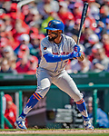 5 April 2018: New York Mets shortstop Jose Reyes in action against the Washington Nationals during the Nationals' Home Opener at Nationals Park in Washington, DC. The Mets defeated the Nationals 8-2 in the first game of their 3-game series. Mandatory Credit: Ed Wolfstein Photo *** RAW (NEF) Image File Available ***