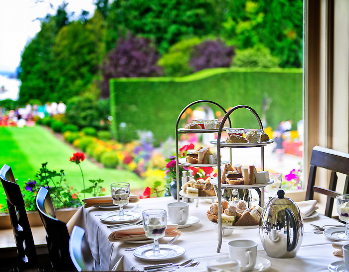 High Tea at Butchart Gardens, Victoria, BC | Babylon and Beyond ...
